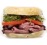 simply roast beef lunch bagel